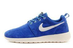 chaussures nike roshe run anti-fur homme (bleu/blanc/blanc logo) pas cher en ligne en france.