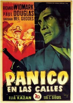 Panic in the Streets (Spanish) 11x17 Movie Poster (1950)