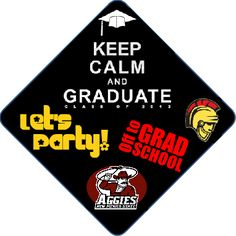 Grad Cap Decorations by www.tasseltoppers.com