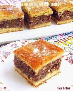 Placinta cu mere, nuci si stafide ~ Culorile din farfurie Romanian Desserts, Romanian Food, Romanian Recipes, Tasty, Yummy Food, Banana Bread, Cake Recipes, Sweet Treats, Deserts