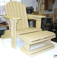 ADIRONDACK CHAIR PLAN FULL_SIZE PATTERN WITH_FOOT_REST! $9.98