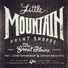Vintage/Typography inspiration: Little Mountain Print Shoppe