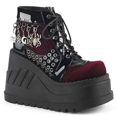 Shop a huge selection of Goth platform boots and punk boots for women. Our Gothic boots for women include platforms, heels, combat style, and much more! High Ankle Boots, Shoe Boots, Women's Boots, Boot Over The Knee, Cute Shoes, Me Too Shoes, Goth Boots, Gothic Shoes, Gothic Clothing
