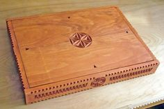 Carved wooden serving or storage tray - bottom details (Made and carved by Dave Melnychuk)