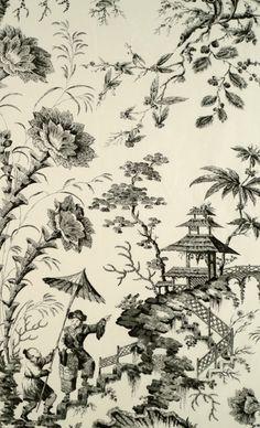 »☆Elysian-Interiors ♕ Simply Divine #Interiordesign ~ #chinoiserie ~ Pillement silk toile