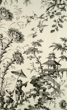 »☆Elysian-Interiors ♕ Simply Divine #Interiordesign ~ #chinoiserie ~ Pillement silk toile