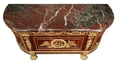 French 19th Century Louis XVI Style Mahogany and Ormolu Commode image 5