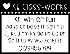 KE Winter FunSuper cute handwriting font!This is for personal use.*Check out my store for single font license for commercial use.Hope you enjoy!