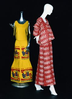 Andy Warhol, Brillo Box Dress and Fragile dress, 1964, ©AWF