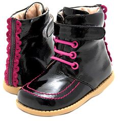 Roxie Boot Black Patent Toddler