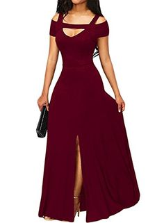 18696fe65d7d online shopping for Bulawoo Women s Nightclub Short Sleeve Sexy Cold  Shoulder Flared Maxi Party Dress from top store. See new offer for Bulawoo  Women s ...