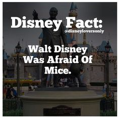 Walt Disney actually made mickey mouse because he didn't like mice, helped him with is fear!