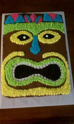 Chase and Paige's Luau Tiki cake.