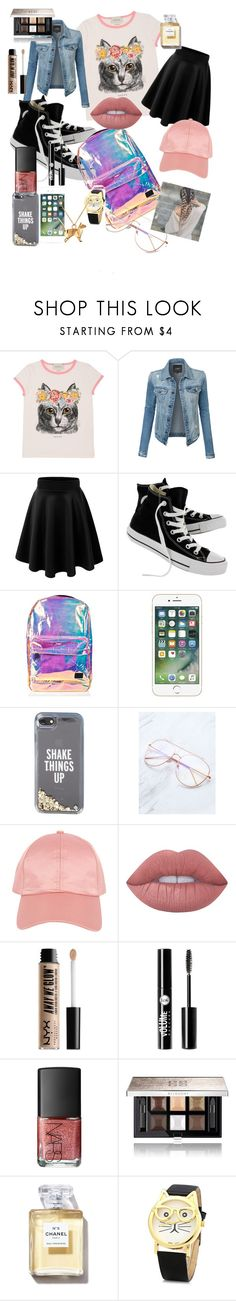 """A day out"" by maeve-lamson on Polyvore featuring Gucci, LE3NO, Converse, Spiral, Kate Spade, Armitage Avenue, Lime Crime, NYX, Charlotte Russe and NARS Cosmetics"