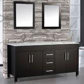 "Found it at Wayfair Supply - Monaco 60"" Double Bathroom Vanity Set with Mirror"