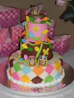 owl baby shower cake | Owl Baby shower cake — Baby Shower | Chi Omega probs