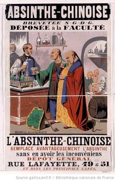 Absinthe chinoise brevetée S. G. D. G. déposée à la Faculté... : [affiche] / [Non identifié] - 1