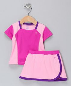 Take a look at this Berry & Plum Tee & Skirt - Infant by i play on #zulily today!