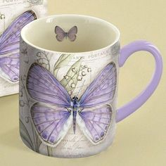 Lang 14 oz. Lavender Butterfly Mug