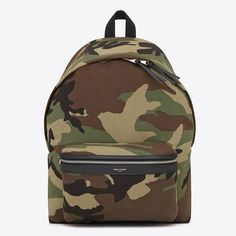 f1218252e19 Saint Laurent City Backpack In Camouflage