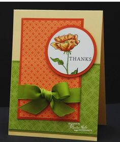 bloomin beautiful stampin up cards - Use Simply Sketched set.