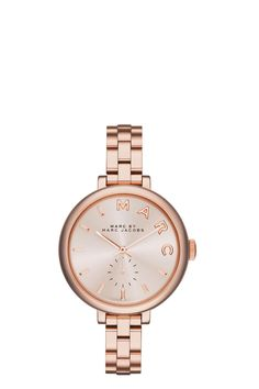 Skinny Sally Bracelet 36MM Detailshttps://www.marcjacobs.com/skinny-sally-bracelet-36mm/888877490700.html $225.00 Promotions Product Actions Variations COLOR: ROSE GOLD The Marc Jacobs Skinny Sally Bracelet 36MM watch takes inspiration from many…