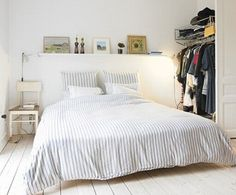白ベッドルームデコレーション