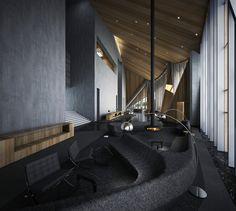 Architecture Photo, Amazing Architecture, Lobby Interior, Interior Design, Interior Ideas, Lobby Lounge, Sales Office, Lobby Design, Luxury Villa