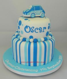 Christening cake for a young boy