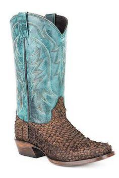 Stetson Men's Amazon Brown Huachinango Cowboy Boots - HeadWest Outfitters