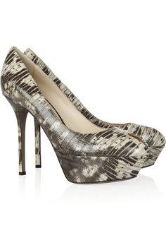a88d3cc4e Sergio Rossi Cachet snake-effect leather pumps Designer Clothes Sale