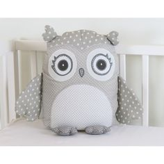 gray owl pillow, gray and white pillow,gray and white owl, grey... ❤ liked on Polyvore featuring home, home decor, throw pillows, grey chevron throw pillow, owl home decor, chevron home decor, grey toss pillows and grey accent pillows