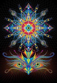 Third Eye Chakra #ravenectar #visionaryart #art #trippy #psychedelic #sacred