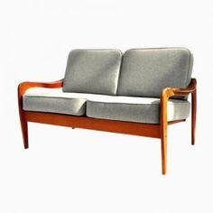 2-Sitzer Sofa aus Teakholz von Komfort