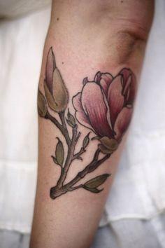 Magnolia tattoo on sleeve - 50  Magnolia Flower Tattoos  <3 <3