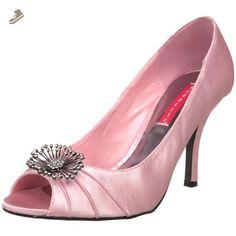 Pleaser Women's Violette-06 Peep-Toe Pump,Baby Pink Satin,6 M US - Pleaser pumps for women (*Amazon Partner-Link)