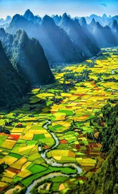 Bucket List: I want to visit Vietnam & see this beautiful country for myself. This is a picture of alternating rice paddies in the Bacson Valley in Bac Son, Lang Son, Vietnam All Nature, Amazing Nature, Places Around The World, Around The Worlds, Wonderful Places, Beautiful Places, Landscape Photography, Nature Photography, Digital Photography