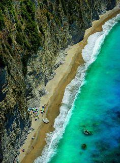 Loggas beach in Peroulades village, Corfu