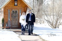 Winter wedding love at Elope Niagara Christmas Wedding, Fall Wedding, Niagara Falls Wedding, Winter Wonderland Wedding, Chapel Wedding, Christmas Themes, Weddings, House Styles, Mariage