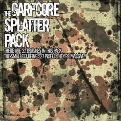 Massive Splatter Pack - Download  Photoshop brush http://www.123freebrushes.com/massive-splatter-pack/ , Published in #GrungeSplatter. More Free Grunge & Splatter Brushes, http://www.123freebrushes.com/free-brushes/grunge-splatter/ | #123freebrushes