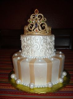 Elegant cakes for woman's birthday.  This will be my birthday cake when I turn 50-years from now! Different colors though!