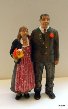 Spectacular Brautpaar aus Holz