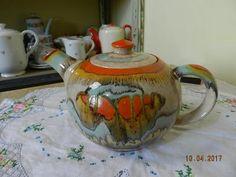 Krásná stará keramická Konvice na Čaj Gustav Bihl