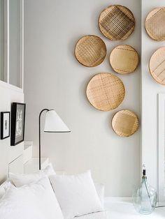 Composições de cestas na parede
