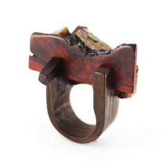 Contemporary wood art jewelry by Gustav Reyes