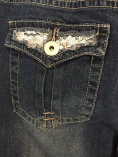Renee Daniel Womens Jeans Size 16W Stretch Denim Comfort Waist Bling Pockets #ReneeDaniel #SlimSkinny