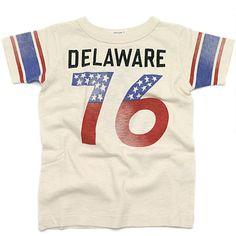 DENIM DUNGAREE(デニム&ダンガリー):テンジク フットボール Tシャツ 11OW生成 の通販【ブランド子供服のミリバール】
