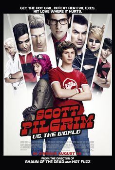 SCOTT PILGRIM VS. THE WORLD movie review starring Michael Cera, Mary Elizabeth Winstead, Anna Kendrick, Brie Larson, Mae Whitman, Ellen Wong, Chris Evans, and Jason Schwartzman!
