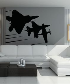 Vinyl Wall Art Decal Sticker Flying Planes 5015m by Stickerbrand, $44.95