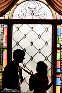 Gorgeous silhouette photo of a couple in front of a window at Disney's Wedding Pavilion